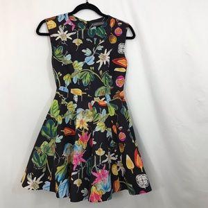 CAMILLA & MARC REVIVAL Botanical Dress 6 Fit Flare